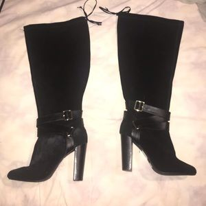NWT Torrid Wide Width Black Leather KneeHigh Boots